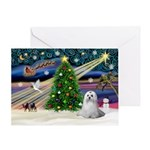 XmasMagic/Maltese (#9) Greeting Card