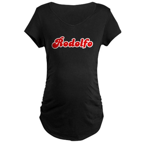 Retro Rodolfo (Red) Maternity Dark T-Shirt