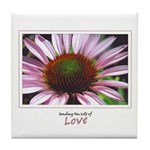 Pink Coneflower Tile Coaster