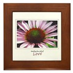Pink Coneflower Framed Tile