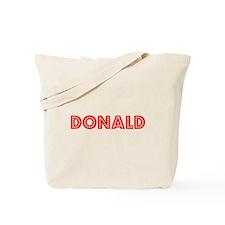 Retro Donald (Red) Tote Bag