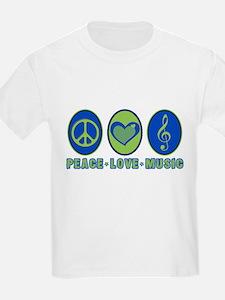 PEACE - LOVE - MUSIC T-Shirt