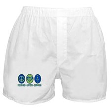 PEACE - LOVE - MUSIC Boxer Shorts