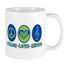 PEACE - LOVE - MUSIC Mug