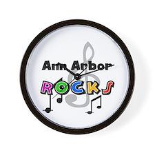 Ann Arbor Rocks Wall Clock
