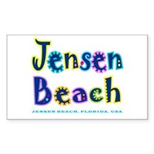 Jensen Beach - Rectangle Decal