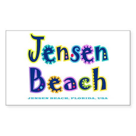 Jensen Beach - Rectangle Sticker