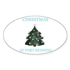 fort benning Oval Decal