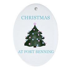 fort benning Oval Ornament