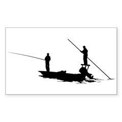 Fishing Rectangle Decal