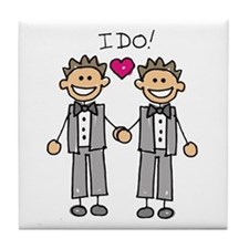 Gay Marriage - I Do Tile Coaster