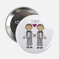 """Gay Marriage - I Do 2.25"""" Button"""