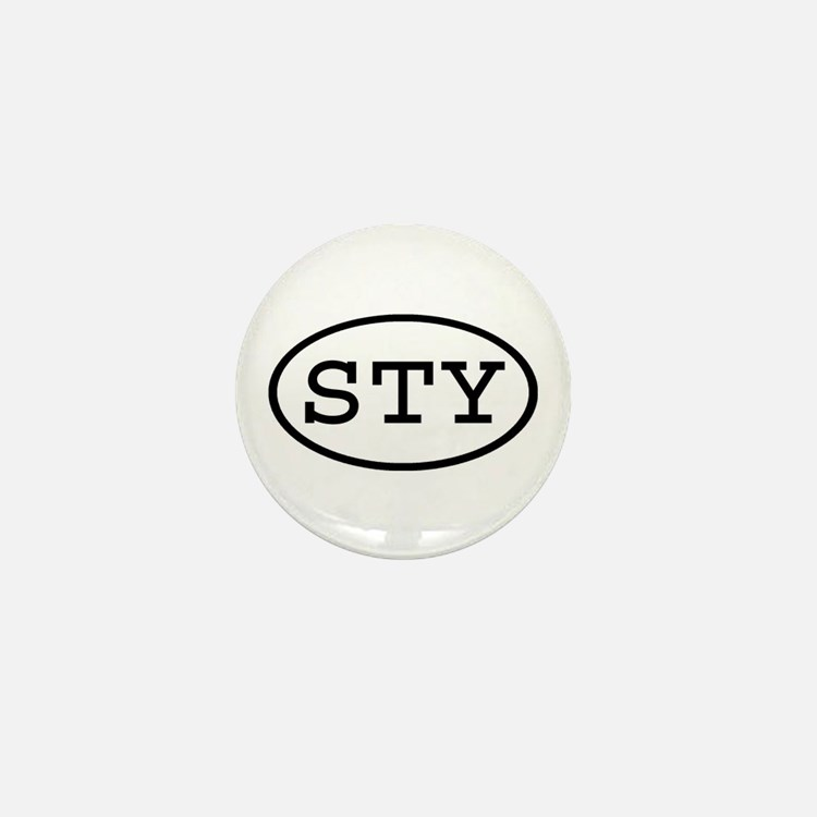 STY Oval Mini Button