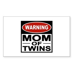 Mom of Twins Rectangle Sticker 10 pk)