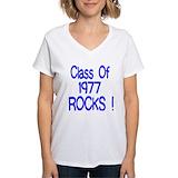 Class 1977 Womens V-Neck T-shirts