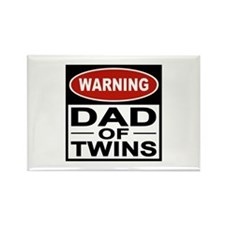 Dad of Twins Rectangle Magnet