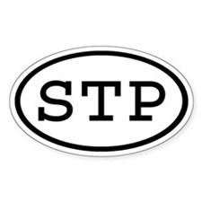 STP Oval Oval Decal