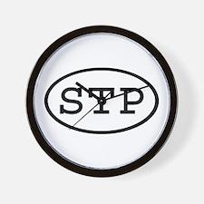 STP Oval Wall Clock