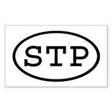 STP Oval Rectangle Decal