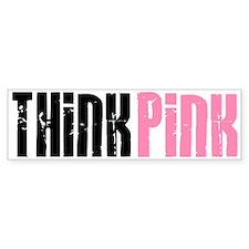 Think Pink 5 Bumper Car Sticker