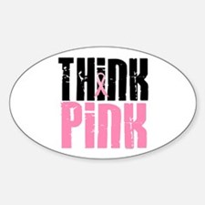 Think Pink 5 Oval Decal