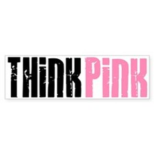Think Pink 5 Bumper Car Car Sticker