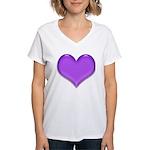 Purple Heart Women's V-Neck T-Shirt