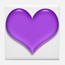 Purple Heart Tile Coaster