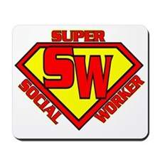 Super Social Worker Mousepad