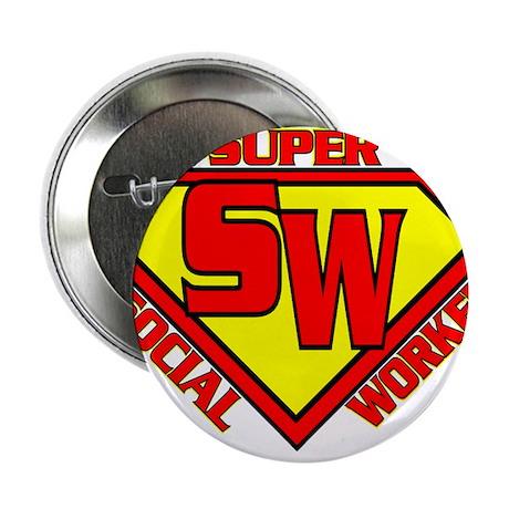 """Super Social Worker 2.25"""" Button"""