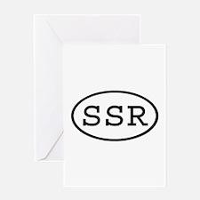 SSR Oval Greeting Card