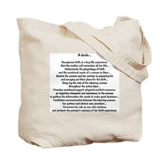 Have you chosen your Doula? Tote Bag