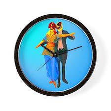 Doggie Ballroom Dancers Wall Clock