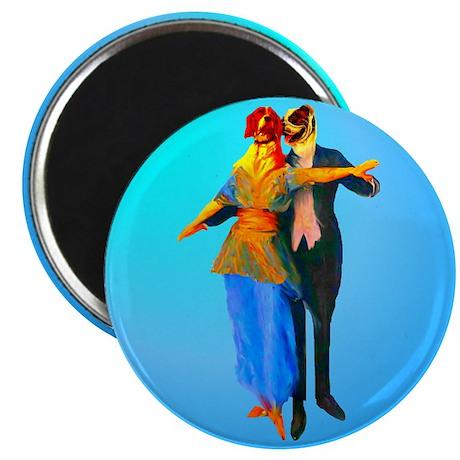 Doggie Ballroom Dancers Magnet