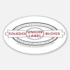 Toledo Bloggers Union Logo Oval Decal