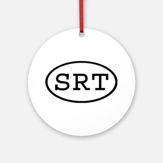 SRT Oval Ornament (Round)