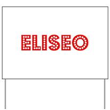 Retro Eliseo (Red) Yard Sign