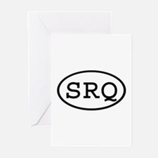 SRQ Oval Greeting Cards (Pk of 10)