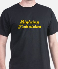 Retro Lighting te.. (Gold) T-Shirt