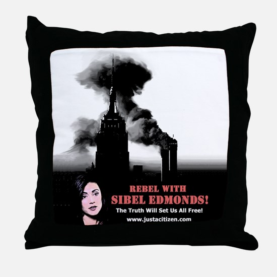 Rebel With Sibel! Throw Pillow