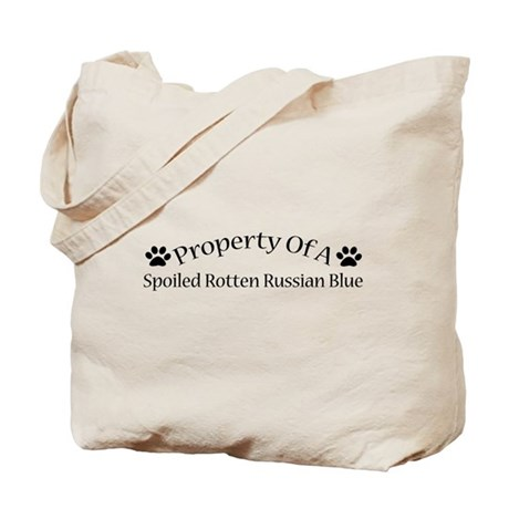 Spoiled Rotten Russian Blue Tote Bag