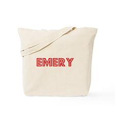 Retro Emery (Red) Tote Bag