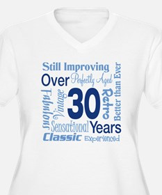 Over 30, 30th Birthday T-Shirt