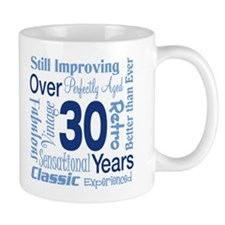 Over 30, 30th Birthday Mug