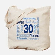 Over 30, 30th Birthday Tote Bag