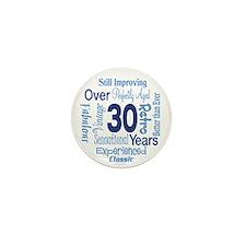 Over 30, 30th Birthday Mini Button