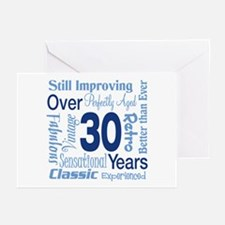 Over 30, 30th Birthday Greeting Cards (Pk of 20)
