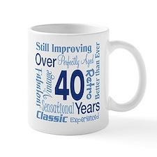 Over 40, 40th Birthday Mug
