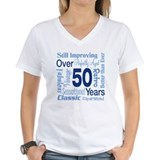 Age 50 Womens V-Neck T-shirts