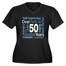 Over 50 years, 50th Birthday Women's Plus Size V-N